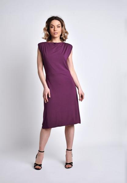 Knielanges Kleid Rückenausschnitt