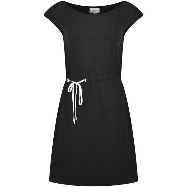Kurzes Kleid mit Bändern schwarz