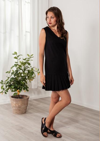 Kurzes Kleid schwarz Cocktailkleid Baumwolle
