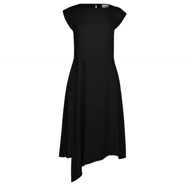 Sommerkleid, Cocktailkleid in Schwarz mit Schlitz am Rücken