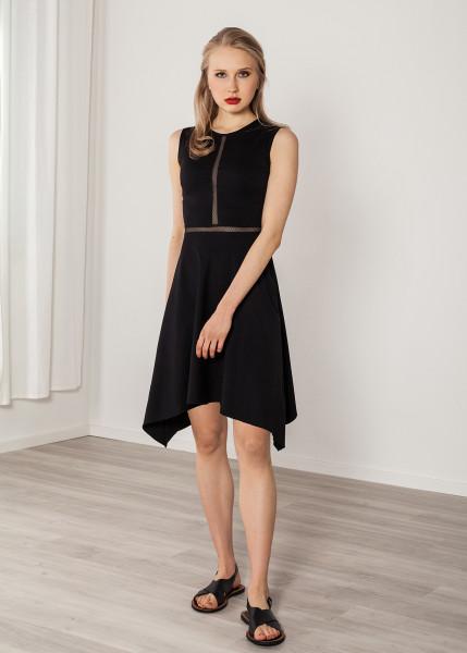 Abendkleid schwarz knielang mit Netz