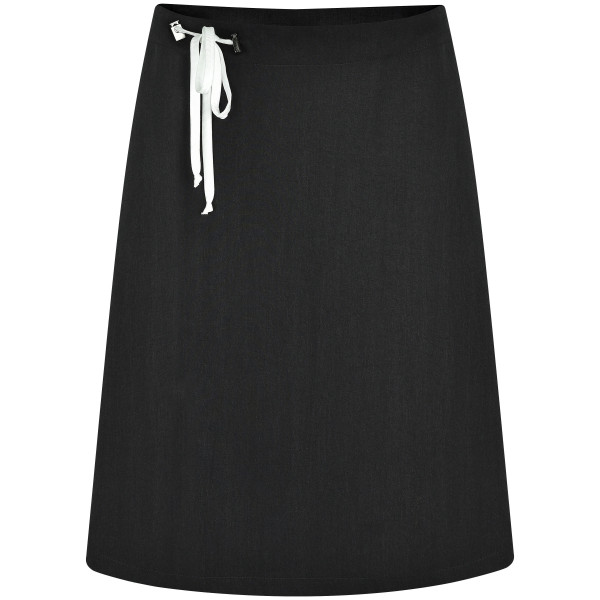 Minirock schwarz mit weißen Bändern Tunnelzug Tencel