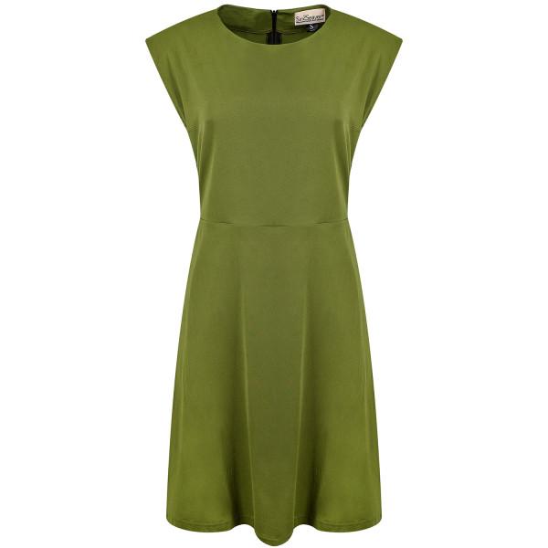 Kurzes Kleid grün ausgestellt Viskose
