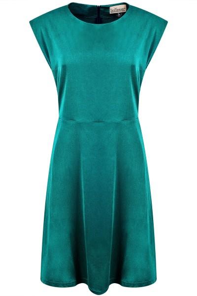 Kurzes Kleid ausgestellt Satin