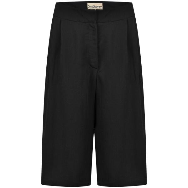Culottehose schwarz Tencel knielang