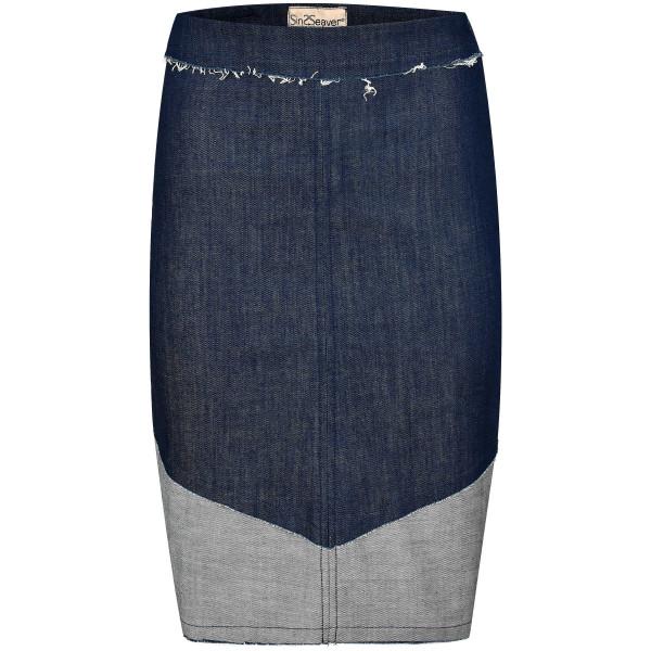 Kurzer Jeansrock (GOTS-Material) Patches Baumwolle