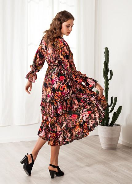 Blumenkleid Viskose Print Sommerkleid